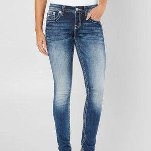 NEW from buckle Easy Skinny Stretch Jean pearl stud MISS ME in K827 sz 24 / 00